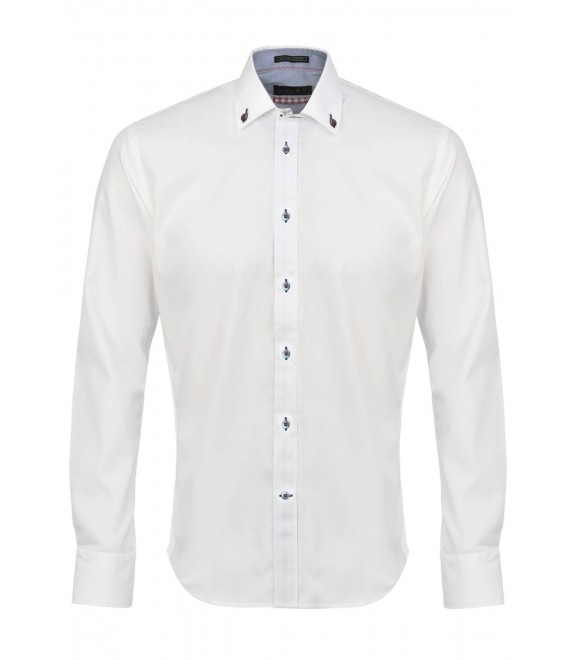 Chemise Pour Hommme Unie Blanche